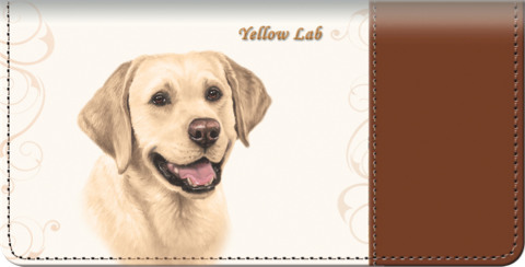 Yellow Lab Checkbook Cover