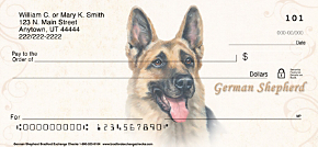 German Shepherd Personal Checks