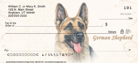 German Shepherd Dog Personal Checks