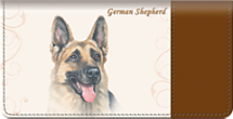 German Shepherd Dog Checkbook Cover