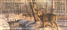 Winter Calm Deer Personal Checks