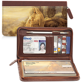 Jesus, Light of the World Zippered Wallet Checkbook Cover