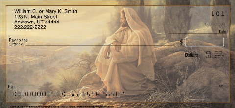 Jesus, Light of the World Inspirational Christian Personal Checks
