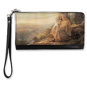Jesus, Light of the World Large Wristlet Purse (1800018086) photo