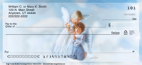Angel Kisses Inspirational Angel Personal Checks