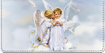 Angel Kisses Sandra Kuck Art Checkbook Cover