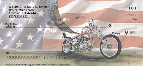"""Ride Hard. Live Free"" Patriotic Check Designs"
