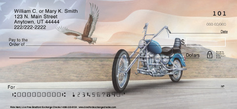 Ride Hard. Live Free Patriotic Personal Checks