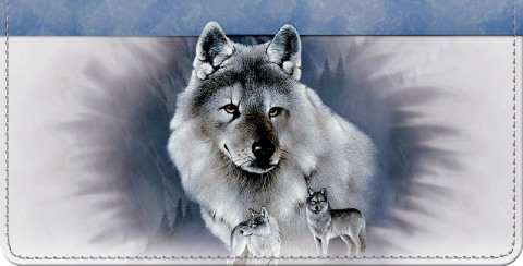Spirit of the Wilderness Wolf Checkbook Cover