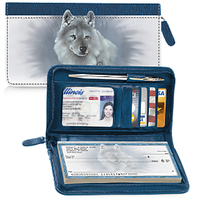 Spirit of the Wilderness Zippered Wallet Checkbook Cover