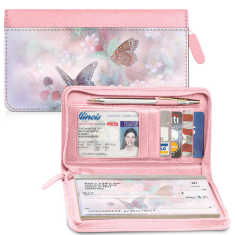 Lena Liu's Enchanted Wings Zippered Checkbook Cover