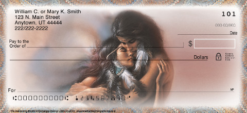 The Awakening Lee Bogle Romantic Art Personal Checks