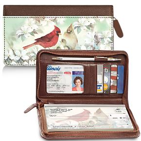 Lena Liu's Morning Serenade Zippered Checkbook Cover Wallet