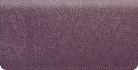 Burgundy Leather Checkbook Cover