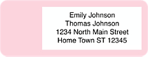 Pastel Return Address Labels