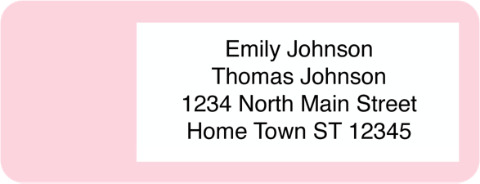 Pastel Booklet of 150 Address Labels