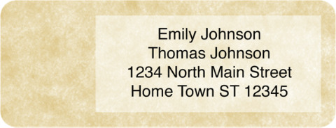 Parchment Booklet of 150 Address Labels