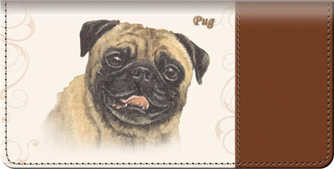 Linda Picken Pug Checkbook Cover