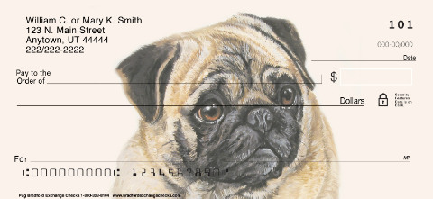 Pug Dog Personal Checks