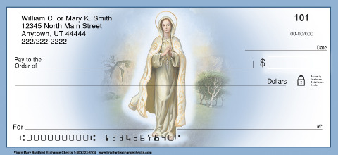 The Virgin Mary Religious Christian Personal Checks