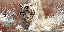 Vanishing Treasures Tiger Checkbook Cover