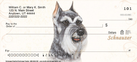Schnauzer Dog Personal Checks