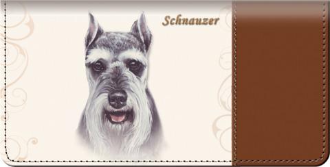 Schnauzer Checkbook Cover