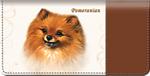 Pomeranian Dog Checkbook Cover