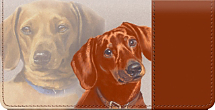 Dachshund Dog Checkbook Cover