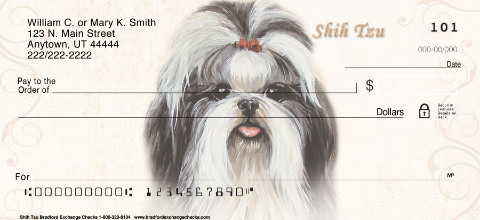 Shih Tzu Portrait Personal Checks