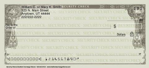 Security Checks Personal Checks 1800048001