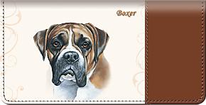 Boxer Checkbook Cover