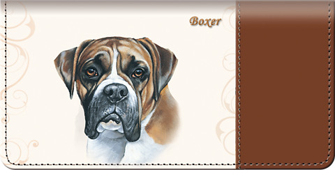 Boxer Checkbook Cover