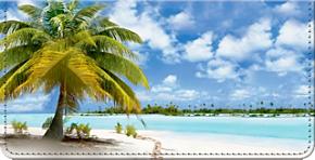Tropical Paradise Checkbook Cover