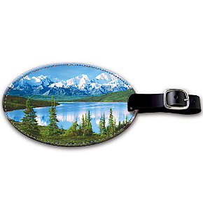 America's National Parks Leather Luggage Tag