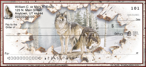 Call of the Wild Wolf Personal Checks