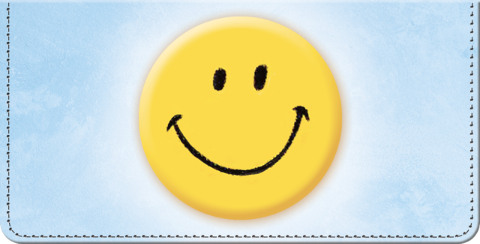 Keep Smiling! Checkbook Cover