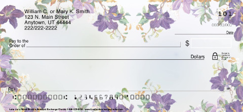 Lena Liu's Floral Borders Personal Checks