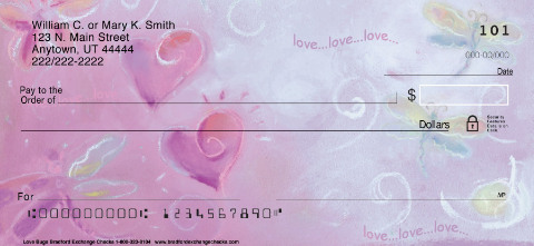 Love Bugs Personal Check Designs