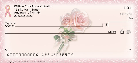 Hope Springs Eternal - Cancer -Personal Check Designs
