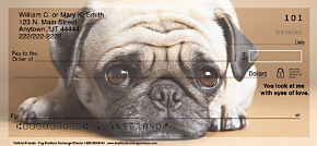 Faithful Friends-Pug Personal Checks