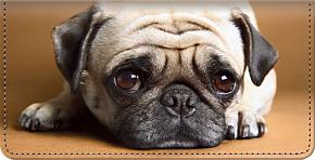 Faithful Friends-Pug Checkbook Cover