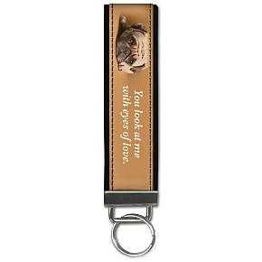 Faithful Friends - Pug Wristlet Keychain