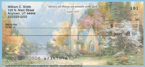 Kinkade's Faith for All Seasons Personal Checks