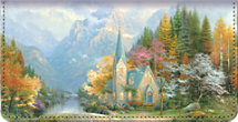 Thomas Kinkade Faith for all Seasons Checkbook Cover