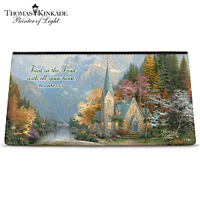 Thomas Kinkade Faith for all Seasons Cosmetic Tote Bag