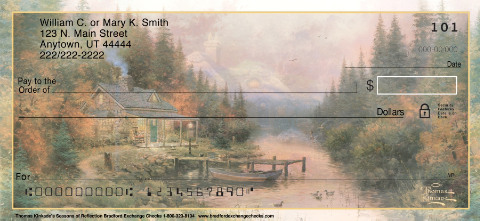 Thomas Kinkade's Seasons of Reflection Personal Checks