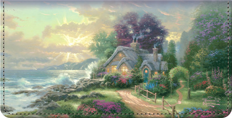 Kinkade's Seasons of Reflection Checkbook Cover