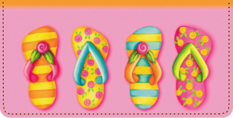 Flip Flop Fun Checkbook Cover