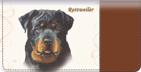 Rottweiler Checkbook Cover